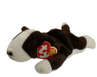 Vintage Beanie Baby: BRUNO the Bull Terrier/Dog 1997 - MINT Condition.