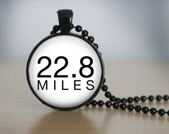 """Gilmore Girls Jess/Rory """"22.8 Miles"""" Pendant Necklace or Keychain"""