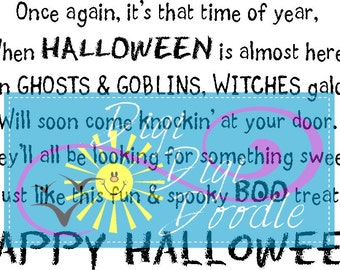 Boo Bag Poem and Images