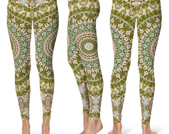 Ladies Yoga Leggings, Printed Yoga Pants, Yoga Tights, Printed Leggings, Fashion Leggings