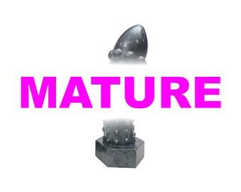 The Rivetor - Medium Metallic Silver Silicone Dildo