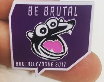 Limited edition 2017 Brutallyvogue TwitchCon enamel metal pin