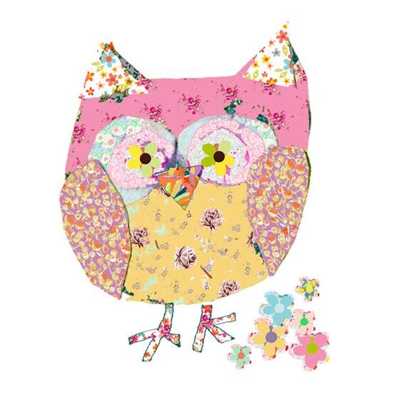 owl art baby girl nursery decor owl print owl decor childrens