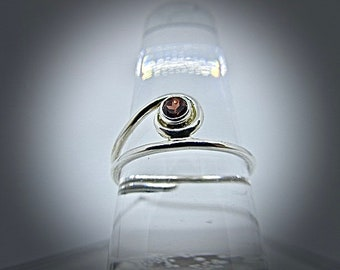 sterling silver Mozambique garnet ring