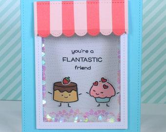 Greeting Card, Shaker Card, Sweets, Valentine Card, Handmade Card, Friendship Card