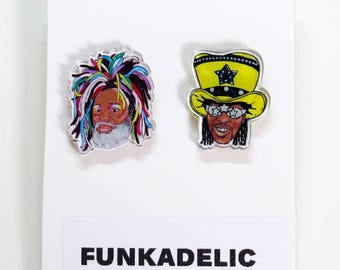 Funkadelic Acrylic Earrings