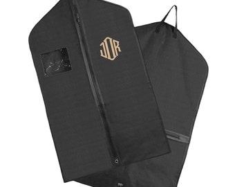 Monogrammed Hanging Garment Bag for Dress/ Suit  - Black   - FREE SHIP
