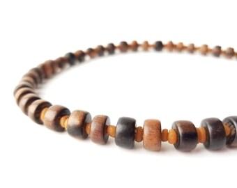 Men's wooden necklace made from genuine myrrh and ebony - Myrrh