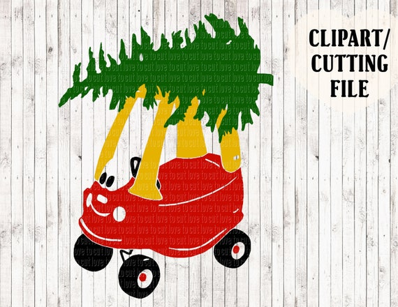little tikes christmas svg file christmas truck svg kids free clipart for vinyl cutting sewing Free Vinyl Cutting Designs