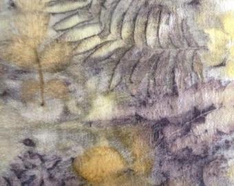 Felted scarf Herbarium from merino wool, Scarf,Handmade,Felt,Felting,Wool,Merino wool,Silk's fibers,Accessories,Accessories handmade