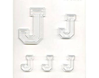 """Collegiate Letter """"J"""" Chocolate Candy Mold"""