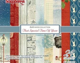 24 papers 15.2 x 15.2 cm SCRAPBERRY's THAT SPECIAL TIME OF YEAR