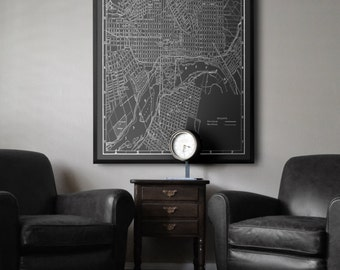 Palo Alto map Black and white style vintage Palo Alto map