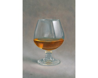 Whiskey. Original fine art print of an enticing glass of whiskey