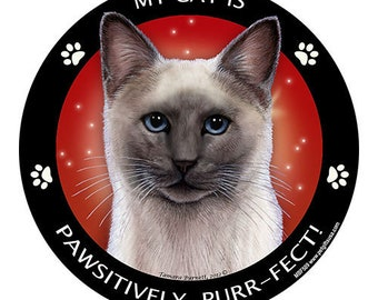 Blue Point Siamese Cat My Best Friend Dog Magnet