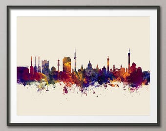 Hannover Skyline, Hannover Germany Cityscape Art Print (2874)