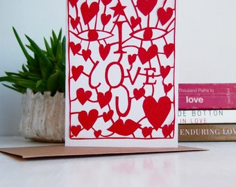 I love you card, hearts card, i love you engagement card, love heart card, heart engagement card, love hearts card, hearts anniversary card