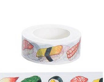 Washi tape 10 m sushi roll - Washi tape sushi