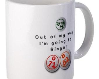 I'M GOING to Bingo Fan 11oz Ceramic Coffee Cup Mug