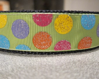 Glitter Dots  Adjustable Martingale Dog Collar Made to Order