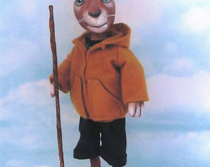 "SE1146E -  Hiking Bunny,  14"" Tall Rabbit/Animal Art Pattern - PDF Download by Susan Barmore"