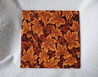 "Autumn Leaves fabric 6"" hot plate"