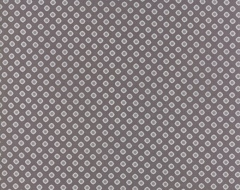 Pepper and Flax - Lacy Polka Dot in Pepper: sku 29045-23 cotton quilting fabric by Corey Yoder for Moda Fabrics
