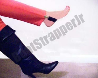 Superior Quality Women's Black, Pink, or Red Deluxe Elastic Pant Clip Stirrup Boot Straps - Keep Your Pants Tucked Neatly Inside Your Boots