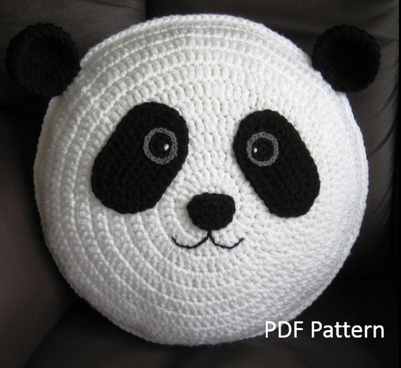 Panda Pillow Cushion Crochet Pattern Crochet Patterns For