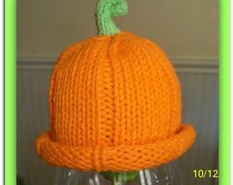 Instant Download Pattern for Premie Cotton Pumpkin Hat  Pattern / Instant Download / Magazine Featured Hat