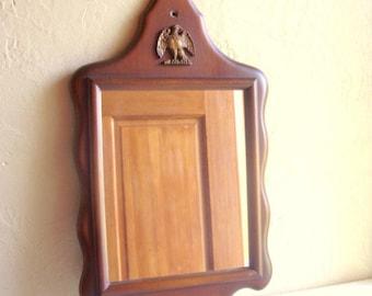 Vintage Solid Wood Mirror Wall Curvy Framed Gold Eagle