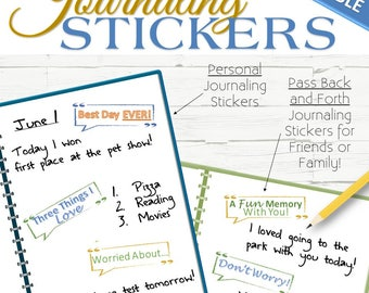 EDITABLE Journaling Stickers (Personal Or Pass Back and Forth) - INSTANT DOWNLOAD