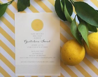 Simply Citrus Invitation - Birthday, Shower, Anniversary
