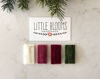 Velvet Snap Hair Clips - pick your colors