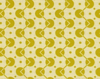 "29"" x 44/45"" Last Piece CHICOPEE Voltage Dot PWDS034 Lime Mustard Denyse Schmidt Free Spirit Quilting Sewing Fabric"