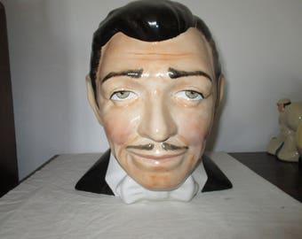 Carlton Ware: Porcelain LIFE-SIZE Bust - Clark Gable as Rhett Butler - Stunning.  Please contact Rare & Hand Painted -