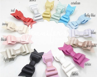 "Faux Leather Bows, 3.5"", Hair Bows, NO CLIPS, Leather Hair Bows, Leather Bows, Bowtie, Double Bow, DIY Bows, Baby Girl Bows,"