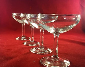 SET OF 4 Champagne Coupes