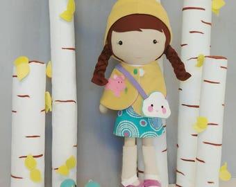 Handcrafted Studio Doll Large - Lotti. Handmade, Doll, Eco Friendly, Plush, Toy, Children,  Gift