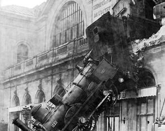 Montparnasse Station France Train Wreck Photo