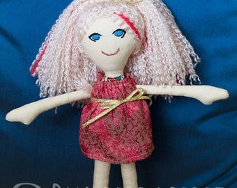 Freya - 31cm Rag Doll with Dress