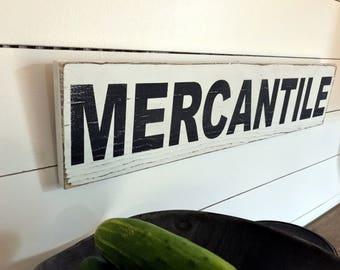 Farmhouse Mercantile Sign  | Farmhouse Decor | Wood Signs | Mercantile Sign | Fixer Upper | Primitive Sign | Rustic Sign