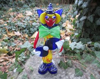 Murano Glas Clown, Glas Clown, Clown, Glas, Skulptur, Glas Skulptur, Glas Figur, Murano, Deko, Vintage Deko, Handarbeit, Glas Design,