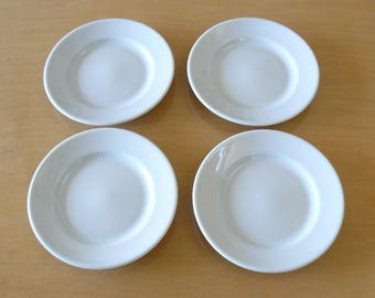 Apilco Yves Deshouliers White Porcelain Bread and Butter Canape Hors d\u0027oeuvres & Pillivuyt porcelain   Etsy