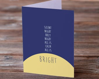 Silent Night, Holy Night Christmas Card • Hymn Greeting Card