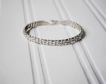 Silver Half Basket Weave