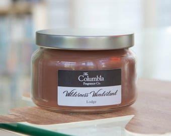 WILDERNESS WONDERLAND - Lodge (Disney scented) candle, 8 oz, optional gift box