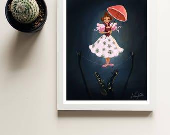 Tightrope Walker Daisy Delacruz Disneyland Disneyworld Print