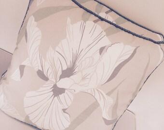 Laura Ashley Nolita in smoke cushion/pillow cover - duck egg blue