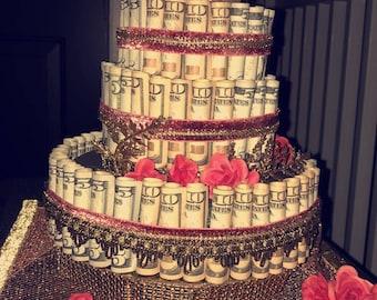 money cake personalized gift for birthdays anniversaries